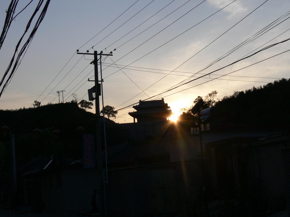 Sonnenuntergang in Gubeikou
