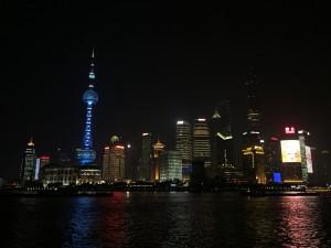 Skyline von Shanghai bei Nacht II