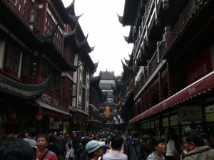 Mittendrin im alten Shanghai