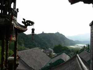 Aussicht von einem Kloster auf die Mauer